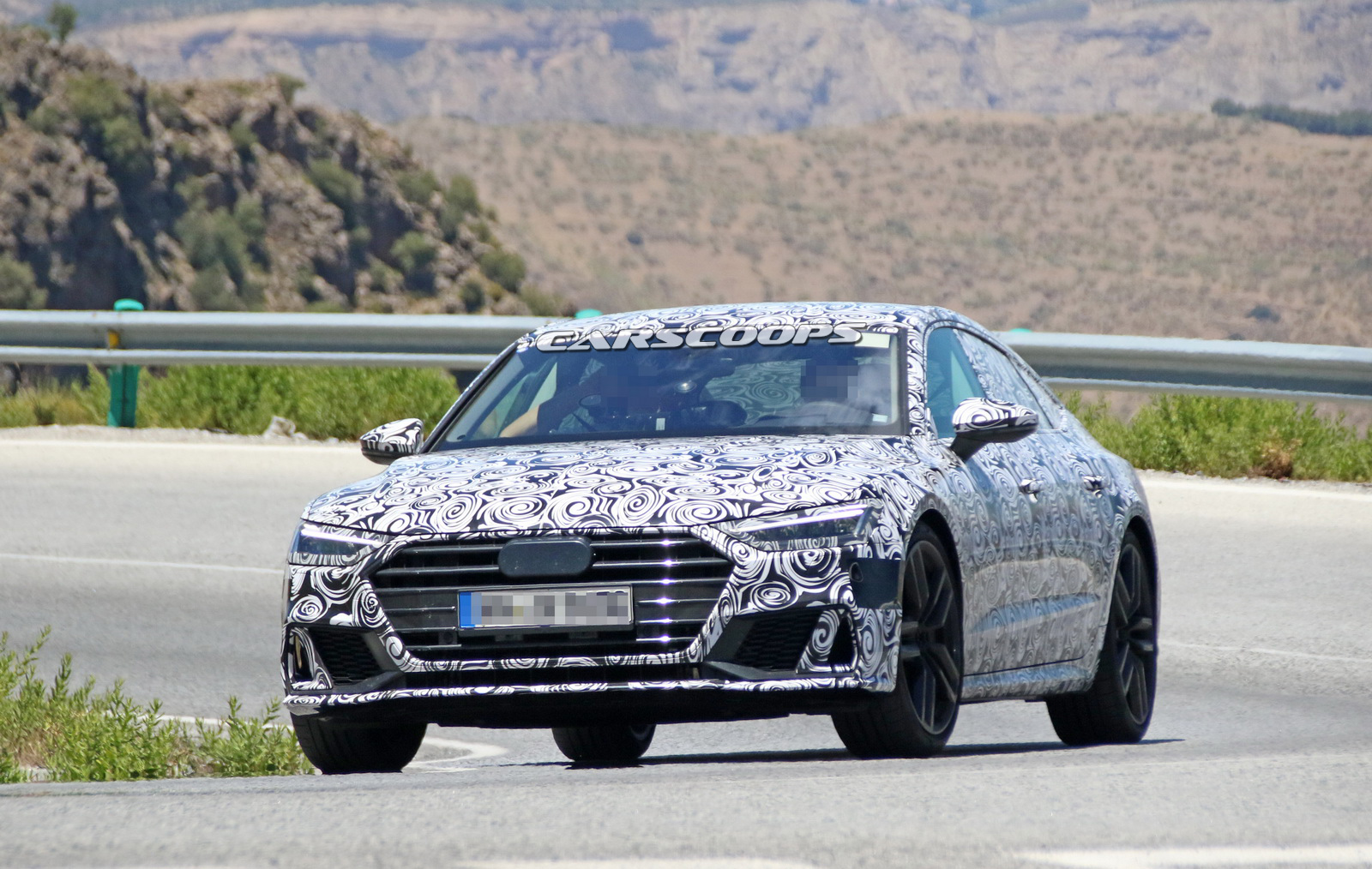 allnew 2018 audi s7 drops some camo to show off what�s coming