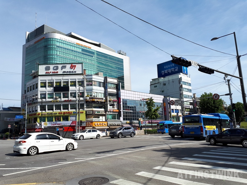 morning street view in seoul korea