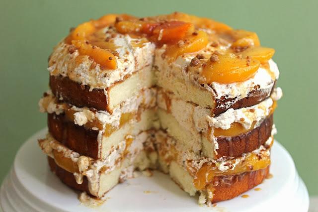 peach+cobbler+cake+2 - Peach Cobbler Shortcake Cake