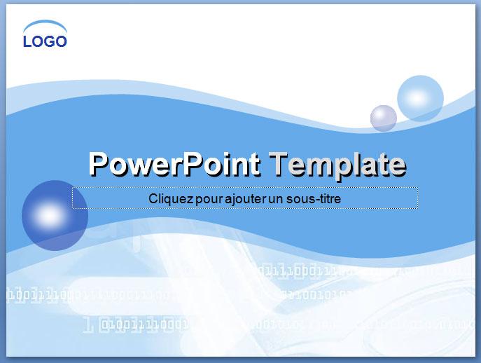 Fond blue brillants pour PowerPoint | Modéles , thémes et