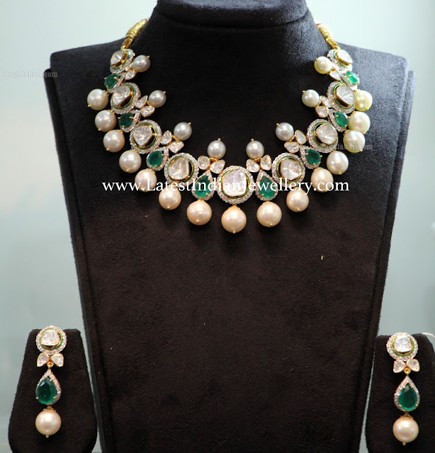 Emerald Combination Jadau Necklace