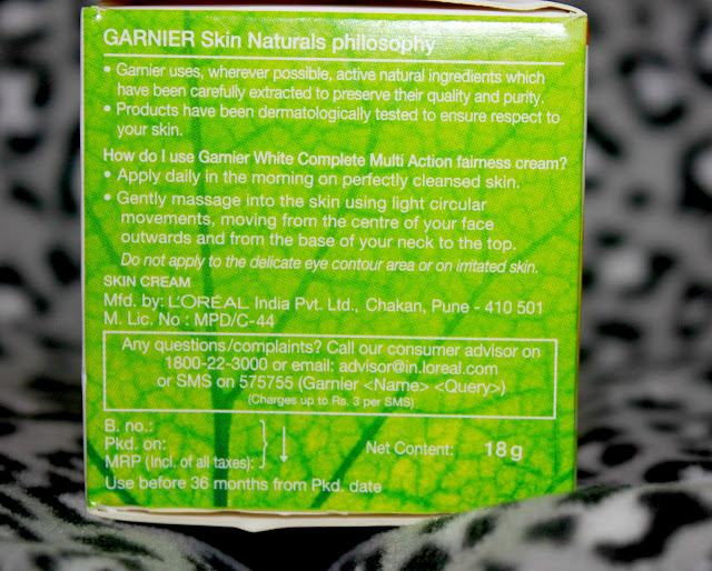 Garnier White Complete Multi Action Fairness Cream Review