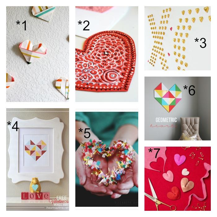 7 diy fáciles para enamorados. Corazones. San Valentín