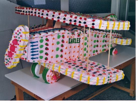 Avión Pastel de chuches