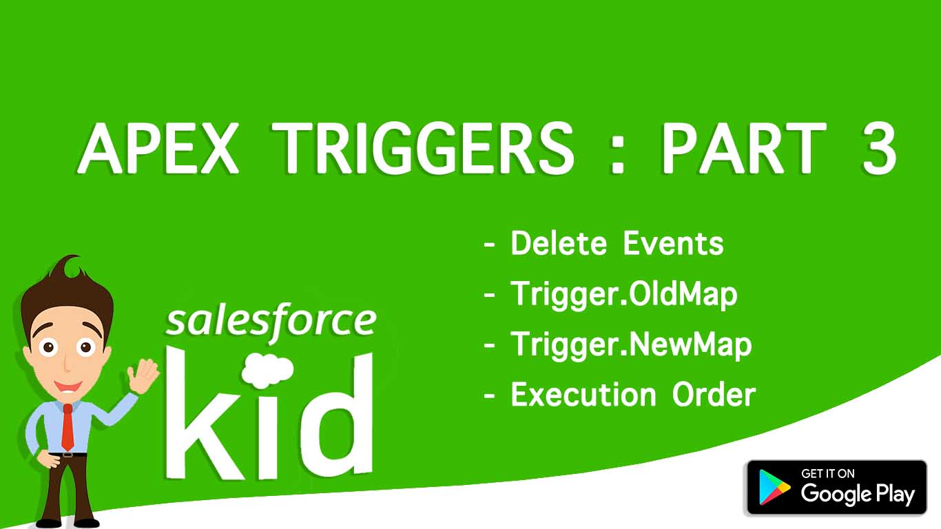 salesforce apex triggers by salesforce kid delete, update triggers