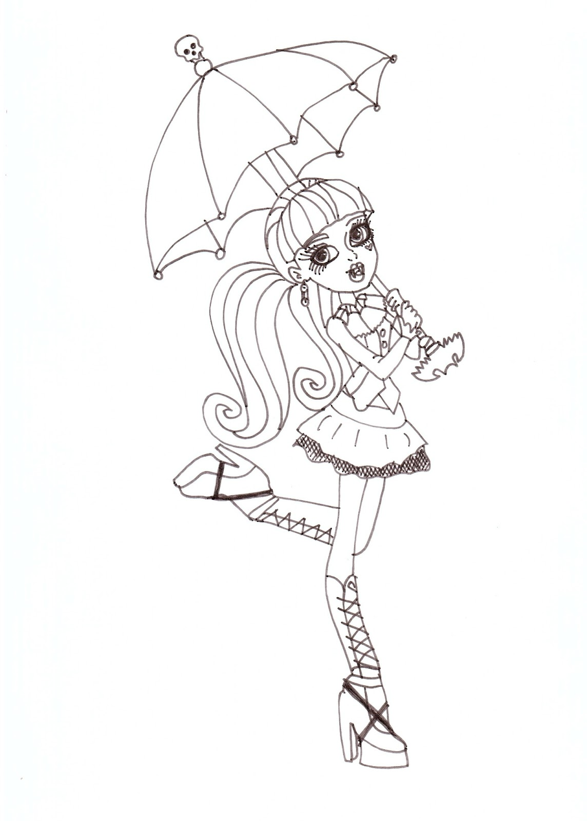 Free Printable Monster High Coloring Pages: Draculaura