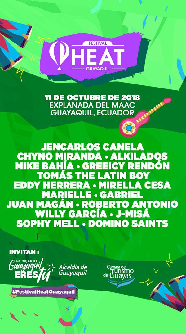cartel-oficial-festival-Heat-Guayaqyuil-2018-agenda-evento