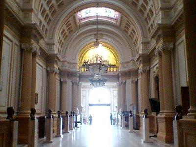 Pasillo del Congreso de la República del Perú o interior del Congreso