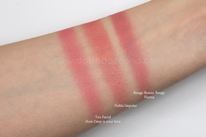 Nabla Impulse swatch blush