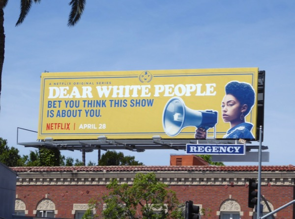 Dear White People series premiere billboard