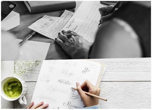 caligrafía, personalizar la escritura, plantillas de caligrafía