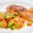 Simple and Healthy: Salmon with Leeks and Carrots ~ Kanelstrand
