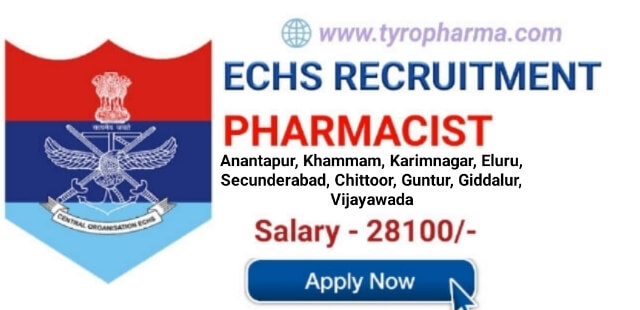 ECHS Pharmacist Recruitment - Pharmacist job at Ex-Servicemen Contributory Health Scheme Telangana & Andhra Sub Area