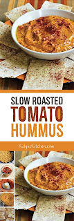 Slow Roasted Tomato Hummus found on KalynsKitchen.com