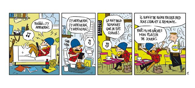 page de Happy Birds de Trondheim et Piette chez Delcourt