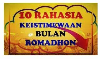 10 Keutamaan Bulan Ramadhan, Motivasi Buat Kita