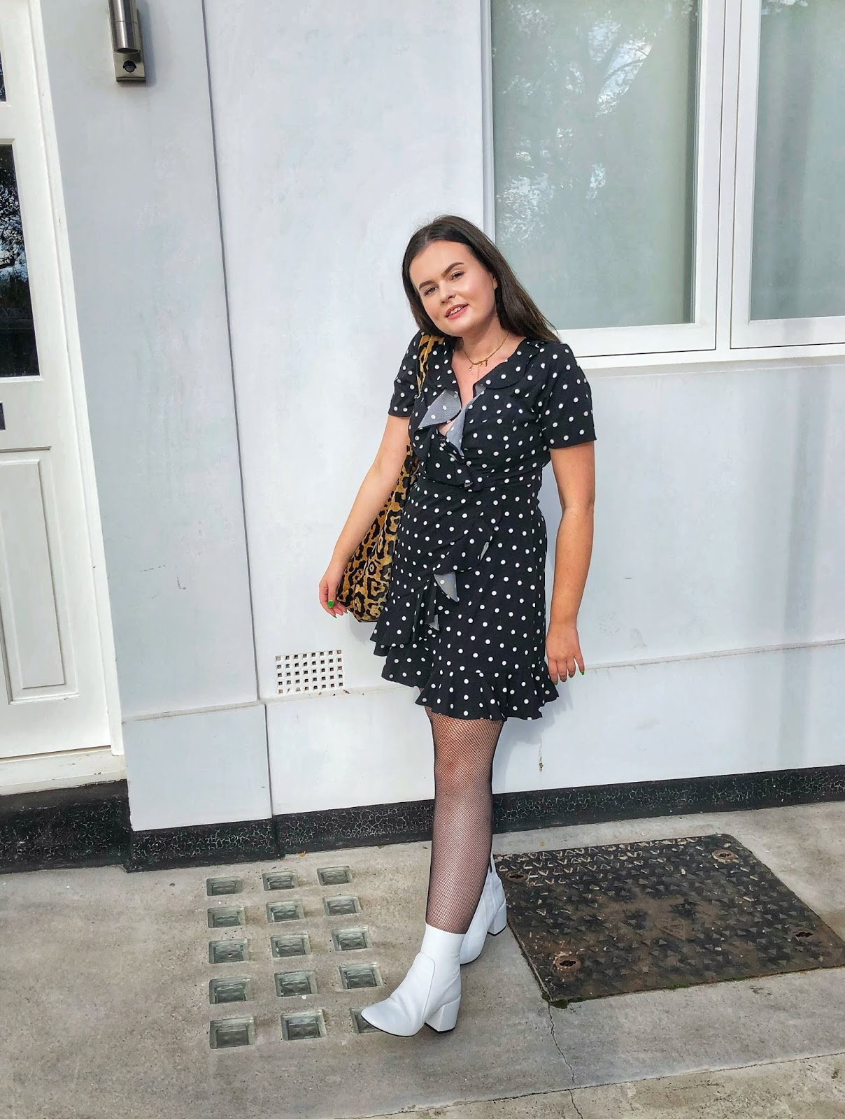 look again aw collection, polka dot dress 2018, jeffery campbell uk, autumn style, uk fashion blogger, midsize style blogger