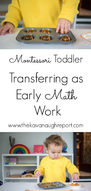 An easy way to make transferring work for a toddler into a way to build math skills