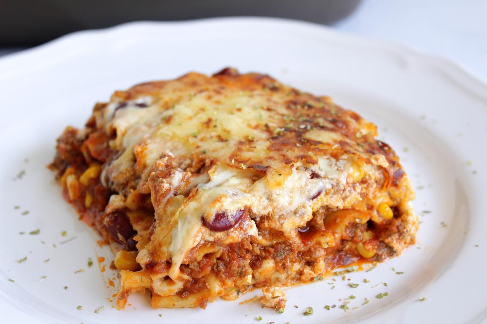 Mexikanische Lasagne Chili Con Carne Lasagne
