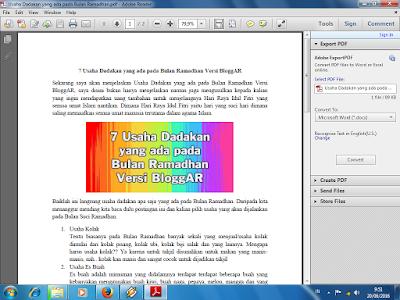 Convert Dokumen Word ke PDF Secara Offline