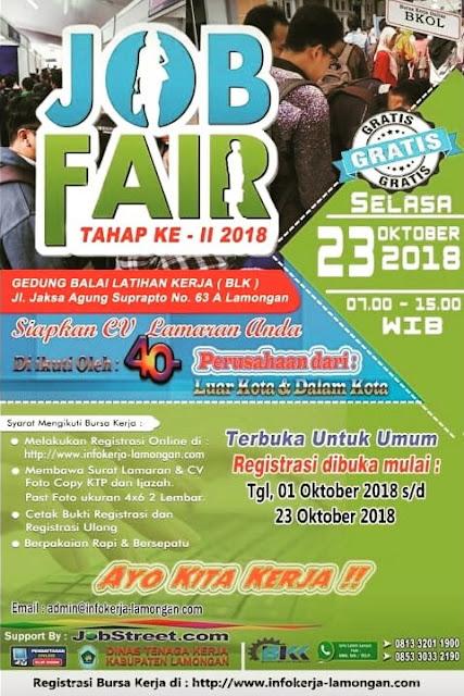 Bursa Kerja / Job Fair Lamongan (Gratis)