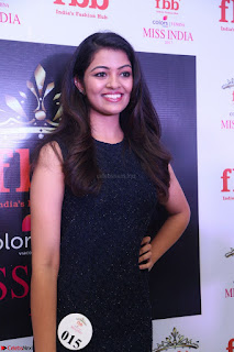 Model Shreya Kamavarapu in Short Black Dress at FBB Miss India 2017 finalists 058.JPG