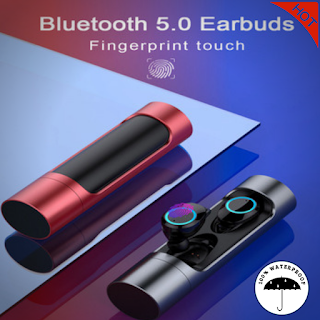 Bluetooth 5.0 Wireless Earphone GO Touch Control and Power Bank
