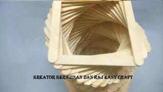 Kerajinan Tangan dari Stik Es Krim Berupa Lampion Dengan Cara Membuatnya