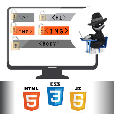 Website Content Protection (Selection, Right Click) using CSS / HTML