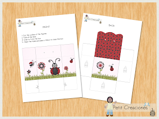 "PRINTABLE TREAT box ""Ladybug"" DIY (digital template) gift idea, placeholders, favor box, gift box for party"