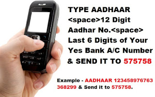 how to link aadhaar with yes bank account online