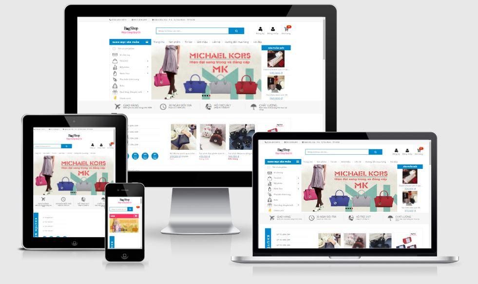VN Blog Shop Template bán hàng cực đẹp cho blogspot