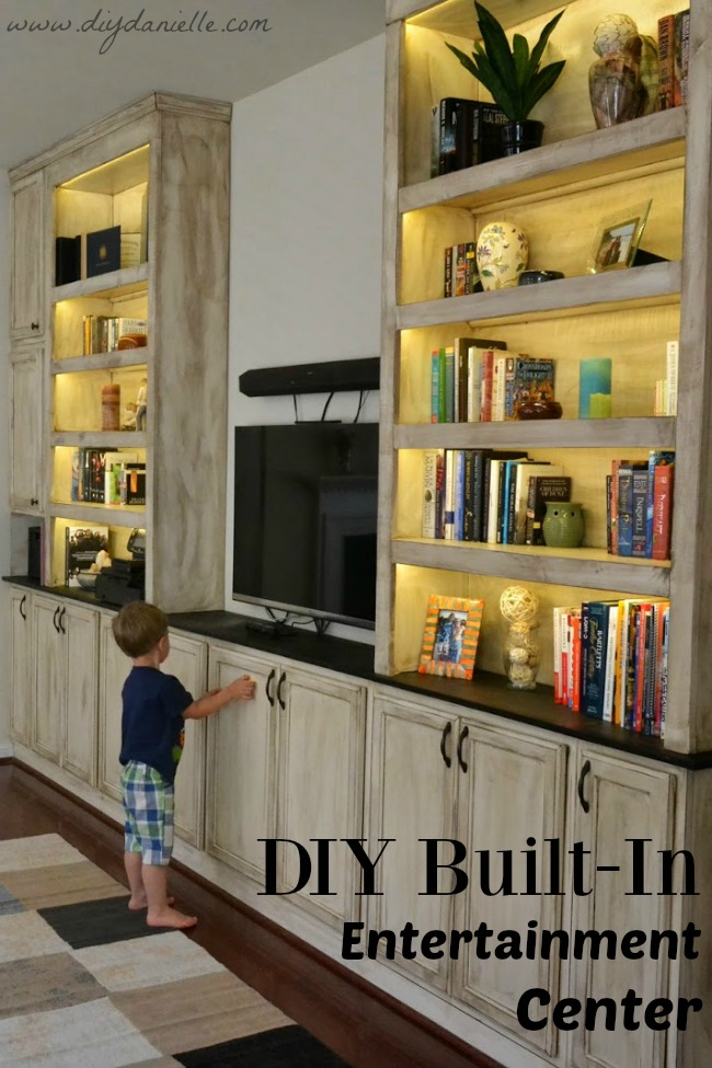DIY Built-In Entertainment Center