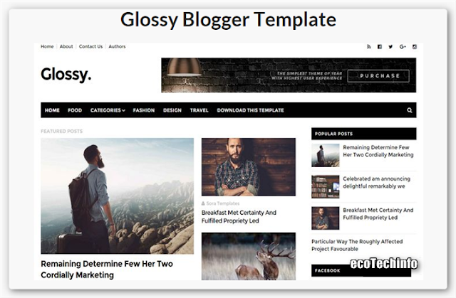 Glossy Blogger HD Template 2015-16