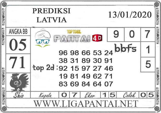 PREDIKSI TOGEL LATVIA PANTAI4D 13 JANUARI 2020