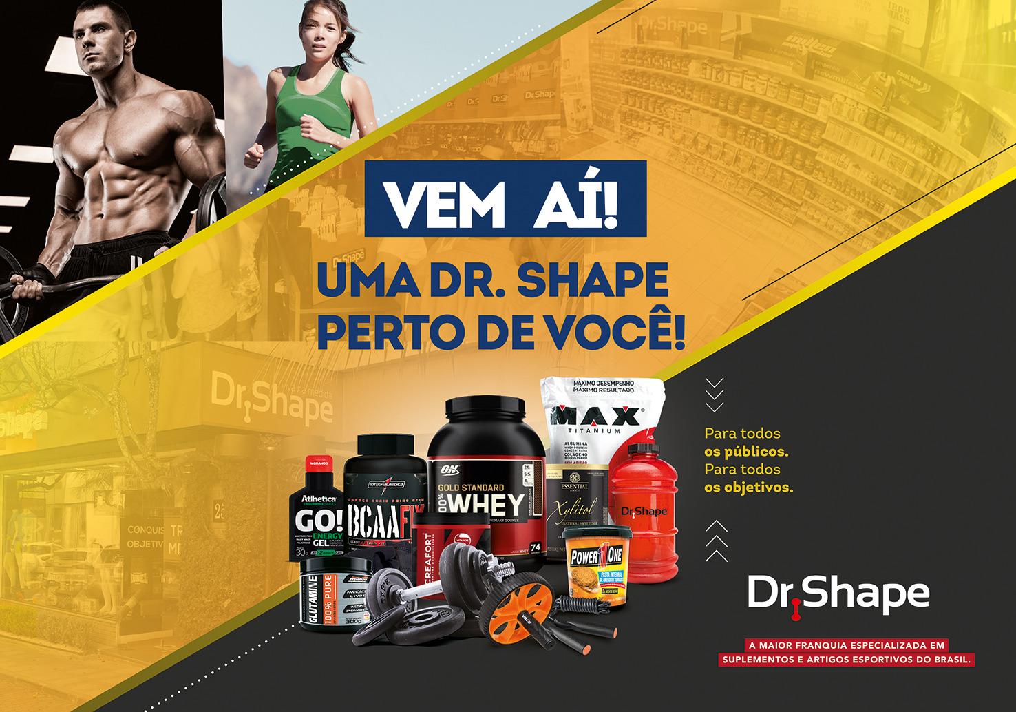 ad40754f725 Dr. Shape chega ao North Shopping em dezembro trazendo suplementação e  acessórios esportivos