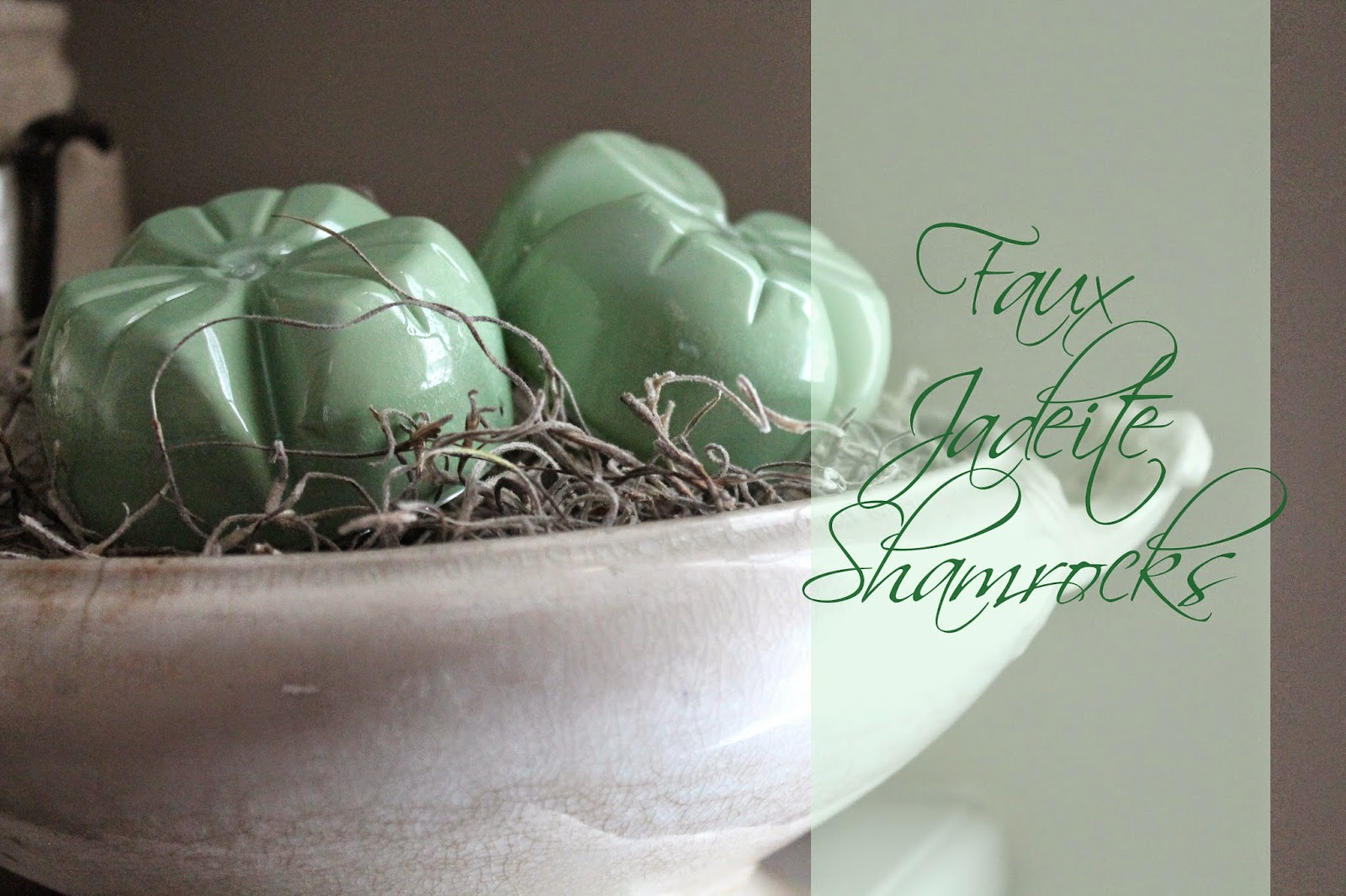 the altered past:  faux jadeite shamrock