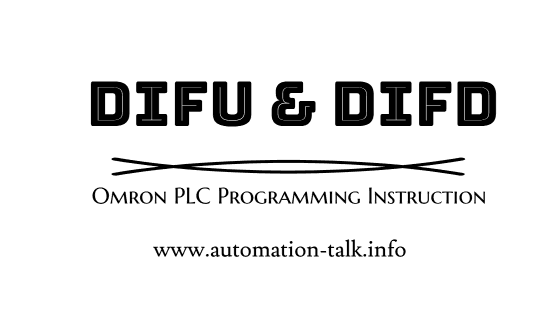 DIFU and DIFD PLC Programming Instruction Omron PLC