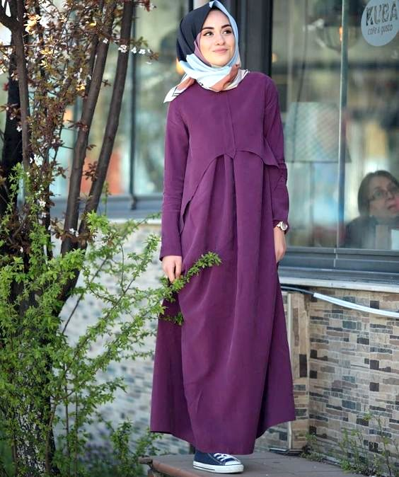 Model Busana Muslim Dress pertama