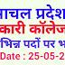 हिमाचल प्रदेश के सरकारी कॉलेजों में विभिन्न पदों पर भर्ती