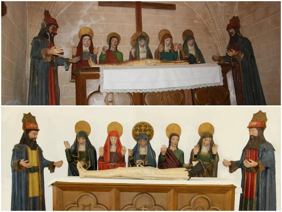 Comparativa de antes y después de la restauración