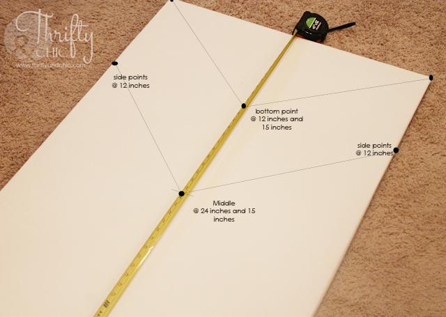 DIY大型帆布低于5美元和箭头艺术!