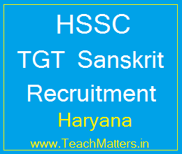 image : HARYANA SSC TGT Sanskrit Recruitment 2017 @ TeachMatters