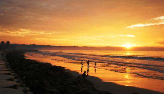 matahari terbit pantai timur pangandaran beach sunrise