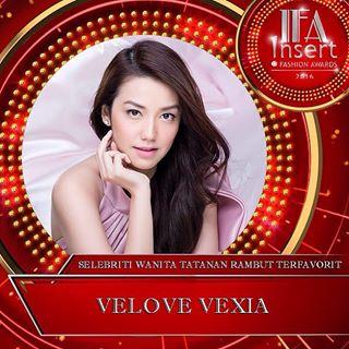 Velove Vexia Pemenang Nominasi Selebriti Wanita Rambut Terindah Insert Fashion Awards 2016