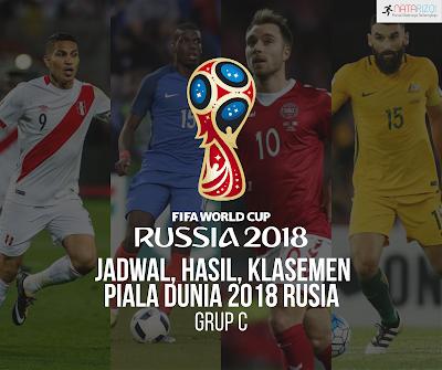 Jadwal, Hasil, dan Klasemen Grup C : Piala Dunia 2018