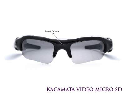 Kacamata Kamera Pengintai dengan Speaker Super Mini