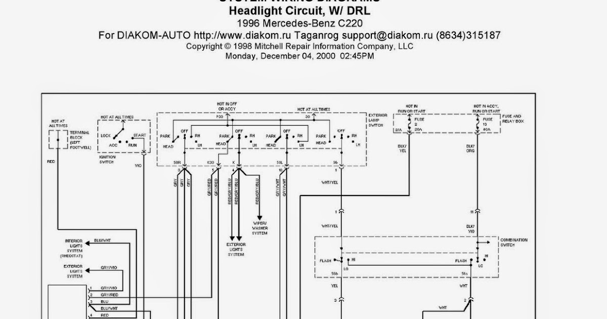 Wiring Diagram Mercedes Benz Engine ~Free Guide Manual