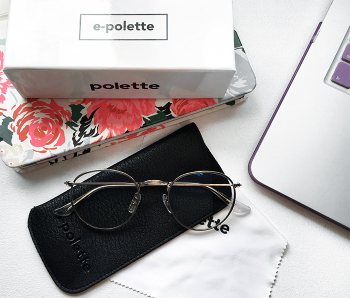 New e-Polette glasses to protect my eyes