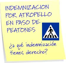 indemnizacion por atropello en paso de peatones
